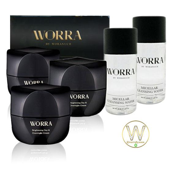 ครีมนุ่น ครีม worra by worranuch 3 กระปุก รับฟรี คลีนซิ่งวอร่า 2 ขวด