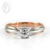 แหวนเงินผู้หญิง เงินแท้ ชุบพิงค์โกลด์ เพชรสังเคราะห์ cz เกรด AAA เหมาะเป็นของขวัญในวันพิเศษ แหวนแมั้น แหวนแต่งงาน