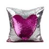 หมอนอิง สลับสี หรู เสริมจินตนาการ พร้อมด้านผ้าซาตินพรีเมี่ยม สีแดงฟูเซีย (Fuchsia/Silver)
