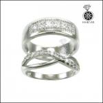 แหวนเพชรสวิส คู่รัก ประกายสวยดั่งเพชรแท้
