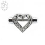 แหวนเงินผู้หญิง รูปหัวใจ ฝังเพชรสังเคราะห์ cz เกรด AAA เหมาะเป็นของขวัญในวันพิเศษ