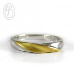แหวนเงินเกลี้ยง เงินแท้ 92.5% หน้าหว้าง 3 มม. พ่นทรายทอง ด้านหน้าแหวน เหมาะเป็นของขวัญในวันพิเศษให้คนพิเศษของคุณ