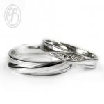 แหวนคู่รัก แหวนเงินแท้ 925 ขัดเงา ฝังเพชร cz เพชรสังเคราะห์ เหมาะเป็นแหวนหมั้น แหวนแต่งงาน ของขวัญสำหรับคนพิเศษ