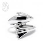 แหวนปลาโลมา แหวนเงินเกลี้ยง เงินแท้ 92.5% ขัดเงา หน้าหว้าง 16 มม. เหมาะเป็นของขวัญในวันพิเศษให้คนพิเศษของคุณ