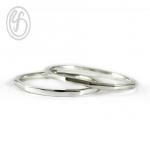 แหวนคู่รัก เงินเกลี้ยง เงินแท้ 92.5% แหวนออกแบบพิเศษ เหมาะเป็นของขวัญในวันพิเศษ