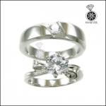 แหวนเงินแท้ คู่รัก ประดับเพชรCZ จากอเมริกา