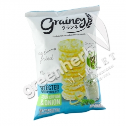 Brown Rice Snack Sour Cream and Onion Grainey
