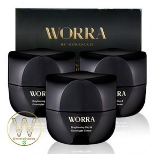 ครีมนุ่น ครีม worra by worranuch 3กระปุก ส่งฟรี