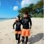 ชุดว่ายน้ำผู้ชาย ขายาว-แขนยาว สีดำ+สีส้ม thumbnail 3