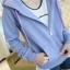เสื้อคลุม แขนยาว มีฮูด สีม่วงอมฟ้า thumbnail 1