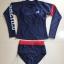 ชุดว่ายน้ำแขนยาว+กางเกงเอวสูง สีน้ำเงินกรมท่า แต่งขอบแดง thumbnail 2