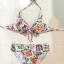 ชุดว่ายน้ำบิกินี่ทูพีช เซ็ต 3 ชิ้น สายคล้องคอลายดอกไม้สวยๆ ขายพร้อมผ้าคลุมสะโพกผ้าซีทรู thumbnail 2