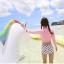 [พร้อมส่ง]BKN-014 ชุดว่ายน้ำแขนยาวเอวสูง เสื้อชมพู เอวสูงขาวลายจุด thumbnail 5