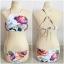 ชุดว่ายน้ำบิกินี่ ทูพีช โทนสีขาว ลายดอกไม้ thumbnail 4
